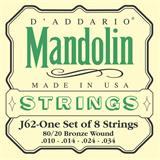 D'Addario J62 80/20 Bronze Mandolin Strings 10-34