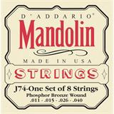 D'Addario J74 Phosphor Bronze Mandolin Strings 11-40