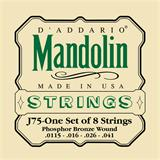 D'Addario J75 Phosphor Bronze Mandolin Strings 11.5-41