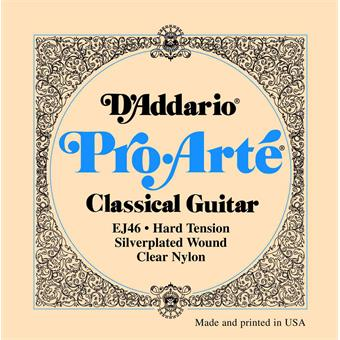 D'Addario EJ46 Hard Tension Pro Arte Classical Guitar Strings paquet cordes standard guitare classique