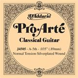 D'Addario J4505 Single Silver Wound 035/J45 5th Normal Tension