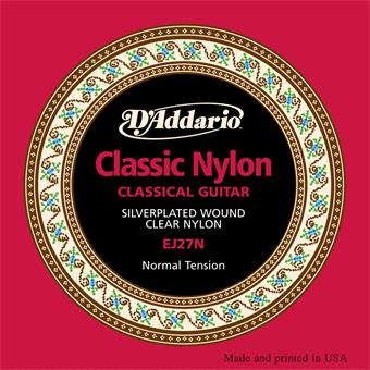 D'Addario EJ27N Normal Tension Student Classical Guitar Strings paquet cordes standard guitare classique