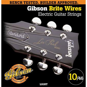 Gibson G700L Brite Wires Light Electric Guitar Strings 010 snarenset voor elektrische gitaar