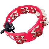 Latin Percussion LP161 Cyclops Mountable Tambourine Steel Red