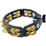 Latin Percussion LP175 Cyclops Mountable Tambourine Brass Black