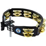 Latin Percussion LP179 Cyclops Dimpled Mountable Tambourine Brass Black