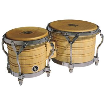 Latin Percussion LP201A3 Generation III Wood Bongos Chrome bongos