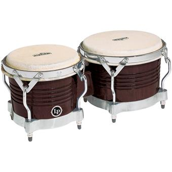 Latin Percussion M201 Matador Wood Bongos Dark Brown Chrome bongos