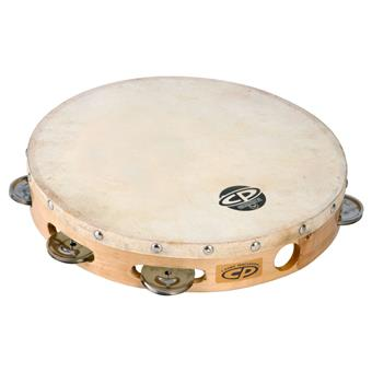 Latin Percussion LP CP379 Wood Tambourine Single With Head tamboerijn met vel