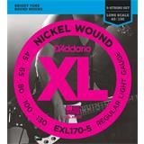 D'Addario EXL170-5 Regular Light 5-String 45-130