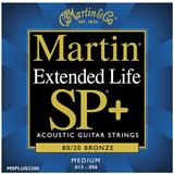 Martin Strings MSPLUS3200 Medium Bronze Acoustic Guitar