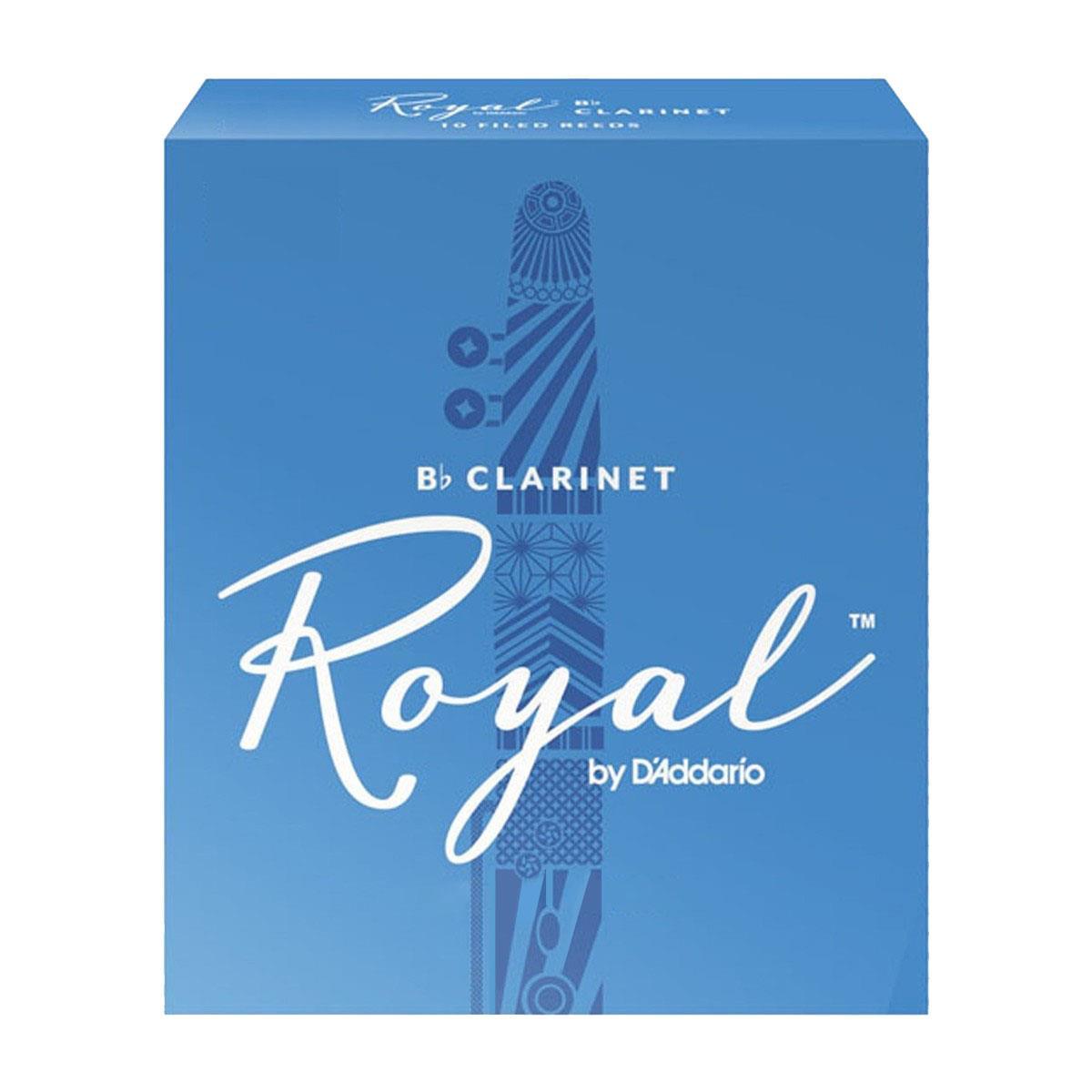 Image of D'Addario Woodwind Royal RCB1010 Bb Clarinet Reeds Strength 1 10-pack 0046716533210