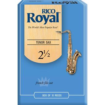 D'Addario Woodwind Royal Tenor Saxophone Reeds 2.5 anches