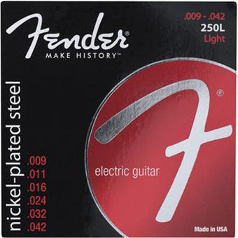 Fender Super 250L Light Nickel-Plated Steel Strings paquet cordes .009 guitare électrique