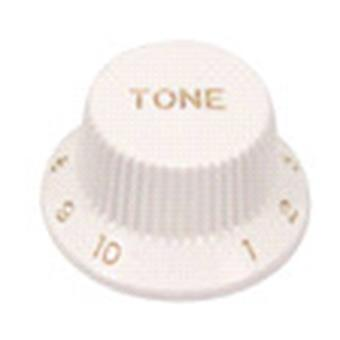 Boston KW-240-V Bell Knob, Strat Model, White, Volume bouton