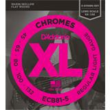 D'Addario ECB81-5 Chromes Bass 5-String Regular Light 45-132