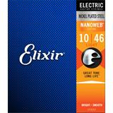 Elixir 12052 Electric Guitar Strings Nanoweb Light 10-46