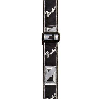 Fender Monogrammed Strap Black Light Grey Dark Grey gitaarband