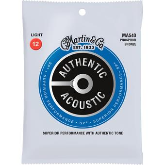 Martin Strings MA540 Authentic Acoustic SP 92/8 Phosphor Bronze Light 012 acoustic guitar string sets