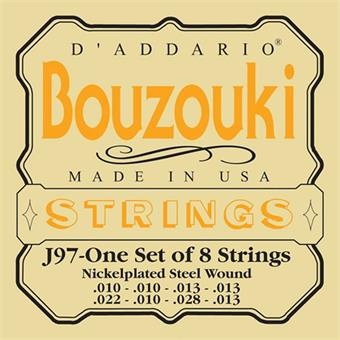 D'Addario J97 Nickel Wound Greek Bouzouki 8 Strings corde pour instrument traditionnel