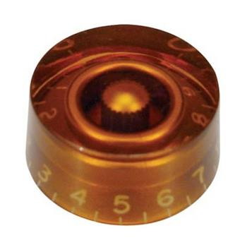 Boston KA-110 Speed Knob, Transparant Amber, 1 Piece bouton