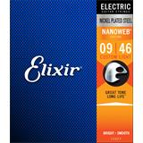 Elixir 12027 Electric Guitar Strings Nanoweb Custom Light 9-46