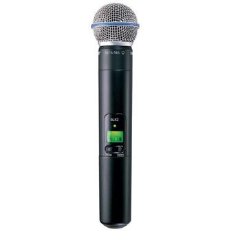 Shure SLX2 / Beta58 wireless handheld microphone
