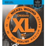 D'Addario ESXL160 Medium 50-105 Double Ball End