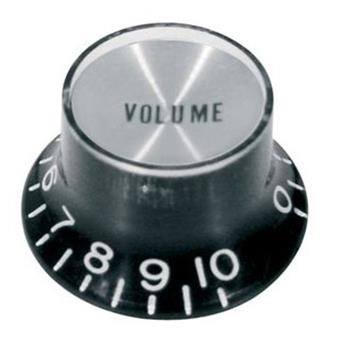 Boston KB-134-V Bell Knob Model, Black With Chrome Cap, Volume  Potiknopf