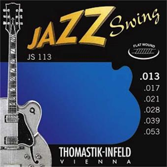 Thomastik JS113 Jazz Swing 13-53 paquet cordes flatwound guitare électrique