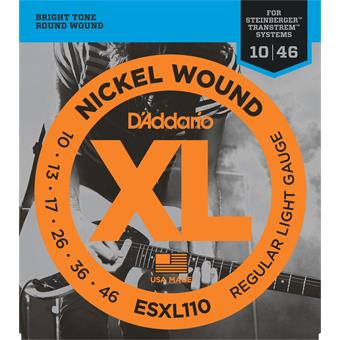 D'Addario ESXL110 Nickel Wound Regular Light Double BallEnd 10-46 double ball-end gitaarsnarenset
