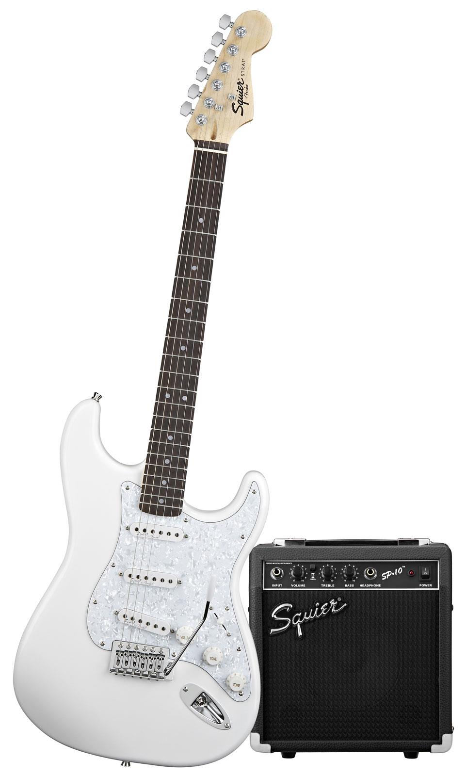 squier sp10 strat pack arctic white keymusic. Black Bedroom Furniture Sets. Home Design Ideas