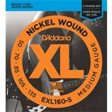 D'Addario EXL160-5 Medium 5-String 50-135