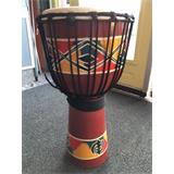 Kong Djembe terracotta painted L