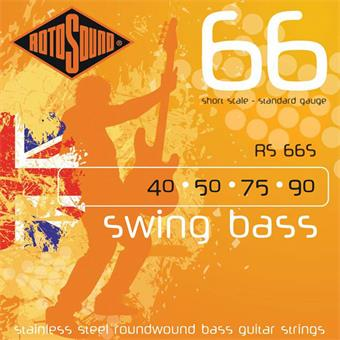 Rotosound RS 66S Swing Bass Stainless Steel Roundwound Strings 040 bass string set