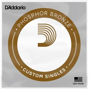 D'Addario PB 025 - Phosfor Bronze wound '025 single string corde individuelle pour guitare acoustique
