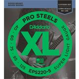 D'Addario EPS220-5 ProSteels Bass 5-String Super Light 40-125