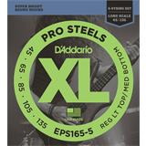 D'Addario EPS165-5 ProSteels Bass 5-String Light Top Med Bottom