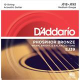 D'Addario EJ39 Phosphor Bronze Medium 12-String 12-52