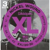 D'Addario EXL120-3D Super Light 3 Sets