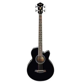 Ibanez AEB8E Black acoustic-electric bass guitar