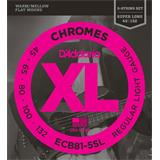 D'Addario ECB81-5SL Chromes Bass 5-String Regular Light 45-132
