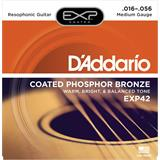 D'Addario EXP42 Coated Phosphor Bronze Resophonic 16-56